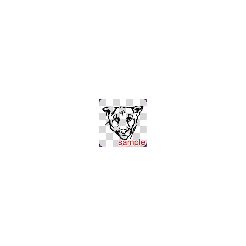 ANIMAL LIONESS HEAD WHITE VINYL DECAL STICKER
