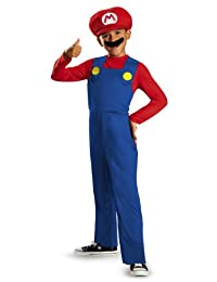 Disguise Nintendo Super Mario Brothers Classic Boys Costume, Large/10-12
