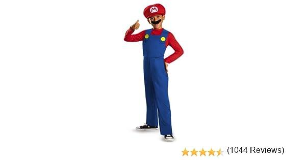 Disguise Nintendo Super Mario Brothers Mario Disfraz clásico para ...