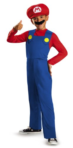 Disguise Nintendo Super Mario Brothers Mario Classic Boys Costume, Medium/7-8 (Mario And Luigi Costumes Kids)