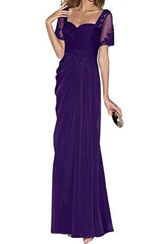 Ivydressing Elegant Neu Herzform Applikation Mutterkleider Neu Abendkleider Lang Violett WlFw6Nw8G