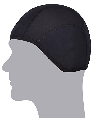 Price comparison product image GearTOP Skull Cap - Quick Drying Helmet Liner for Winter and Summer - Best Sportswear for Bicycle,  Motorcycle,  Hiking,  Running,  Snowboarding,  Skiing - For Women Men Youth (Black)