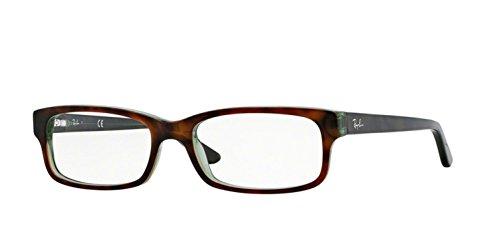 Ray-Ban Unisex RX5187 Eyeglasses Havana/Green 50mm