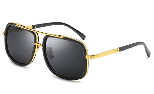 Eyerno Retro Aviator Sunglasses For Men Women Vintage Square Designer Sun Glasses(Black) (Replica Louis Vuitton Glasses)
