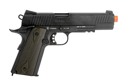 (Colt 1911 Rail Pistol Co2 Full Metal Blowback, Black )