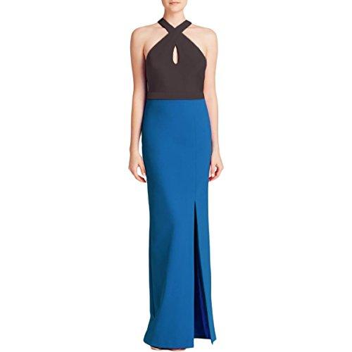 Colorblock Semi-Formal Maxi Dress Black 8 (Nicole Miller Formal)