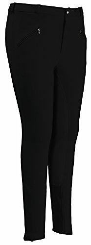TuffRider Men's Regular Cotton Full Seat Breech, Black, 34