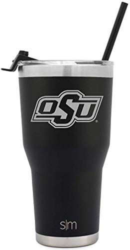 (Simple Modern College 30oz Cruiser Tumbler with Closing Lid and Straw Oklahoma State - NCAA University 18/8 Stainless Steel Vacuum Sealed Insulated Cup)