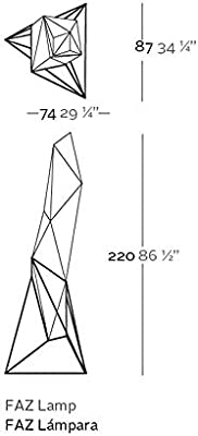 Amazon.com: Vondom Faz Lampara de Pie Floor lamp LED Bright ...