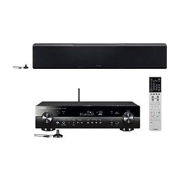Yamaha YSP-5600BL 7.1.2-Channel Dolby Atmos MusicCast Sound Bar - Yamaha RX-S601 5.1 Channel Slimline AV Network Receiver by YAMAHA