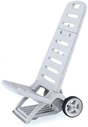 Adriatic, Comfort - Tumbona de resina, color blanco, resistente, plegable, con ruedas y gancho ideal para la playa