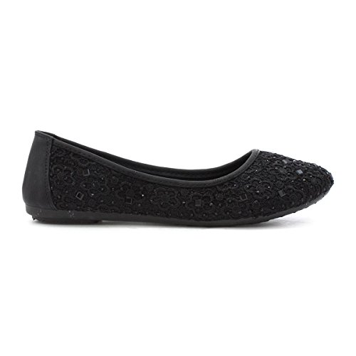 Lilley Black Lilley Black Womens Lace Shoe Ballerina Womens FdCwqF