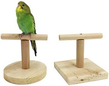 Tutuba Bird Training Stand Sun Conures Caique Parakeets Cockatiels Lovebirds Portable WoodTabletop Bird Perch Stand for Parrots