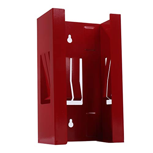 Magnetic Glove Box Holder Organizer-Red Wall Mount Dispenser, for Latex, Nitrile, Plastic Shop Gloves and Tissue Boxes