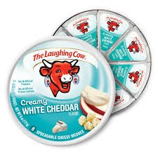 (The Laughing Cow, Creamy White Cheddar Flavor, 6 Oz, 8 .75 Oz Wedges (2 Pack) (White Cheddar) )