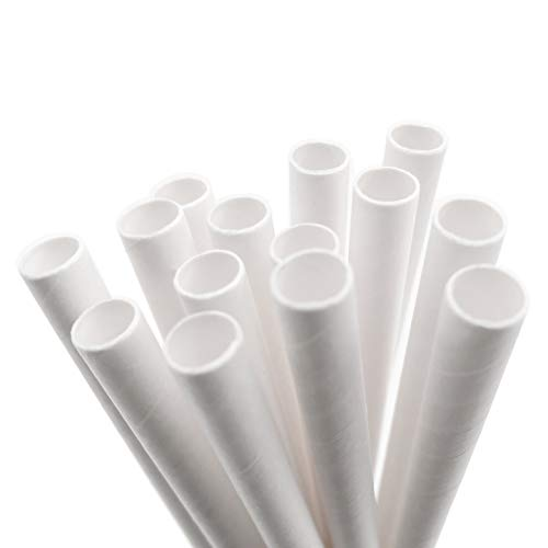 White Paper Straws by PodPaks® - 50/Pack Bulk -
