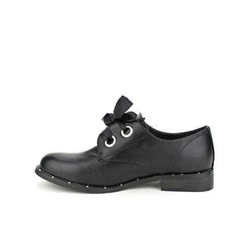 Noires Femme Noir Derbies Super Mode Chaussures Cendriyon f7wPxP