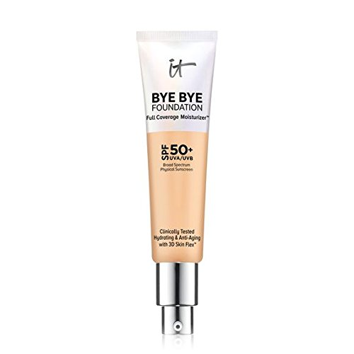 IT Cosmetics Bye Bye Foundation Full Coverage Moisturizer with SPF 50+: MEDIUM – 1 oz-30 ml