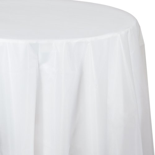 Creative Converting Octy-Round Plastic Table Cover, 82-Inch, Clear ()