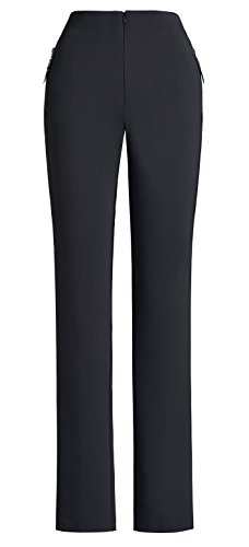 Joseph Ribkoff Black Fitted Pants + Functional Mini Pockets Style 151488 - Size 12 by Joseph Ribkoff