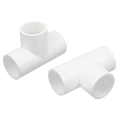 - uxcell 25mm Inner Dia 3 Way T Shaped PVC Water Pipe Tube Joint Connector 2pcs