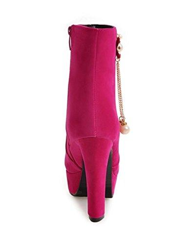 Chaussures Stiletto de Talons Elégant red HETAO Chaussures Chaussures Heel personnalité Tempérament Cheville Martin rose Bottes Chaussures Femmes Chaussures de Pomme zFqxPwq