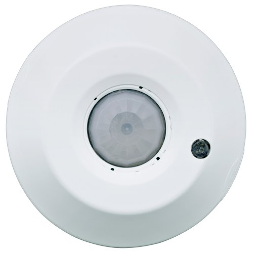 Leviton ODC Series 1500 Sq. Ft. Passive Infrared Ceiling-Mount Line Voltage Dual Relay Occupancy Sensor with Integrated Photocell