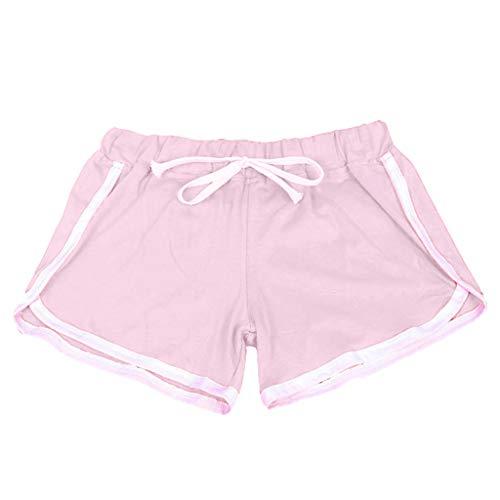 iHPH7 Hot Pants Active Bike Running Yoga Shorts Series Women Sports Shorts Casual Ladies Beach Summer Running Yoga (M,Pink) ()