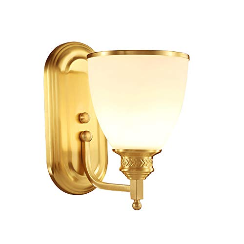 Decorazione- Lampada da parete in rame Lampada da comodino Lampada da comodino Lampada da soggiorno creativa Lampada da parete TV