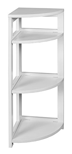 Regency FFC3412WH Flip Flop Corner Folding Bookcase with No-Tools Assembly, 34-inch, White