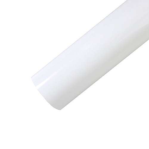 Heat Transfer Vinyl Roll 12 Inches x 5 Feet Gloss HTV Vinyl for T-Shirts (White)