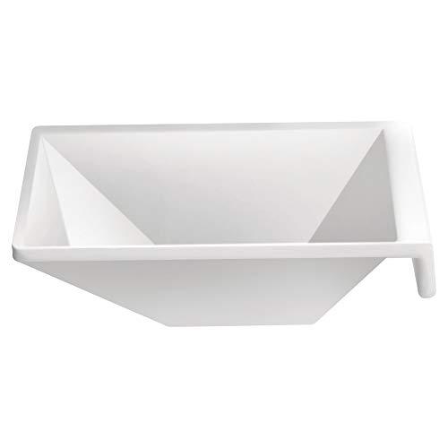 Porta Molho Quadrado 8.8 Cm Melamina 100% Profissional, Gourmet Mix Gx5469, Branco Gourmet Mix Branco