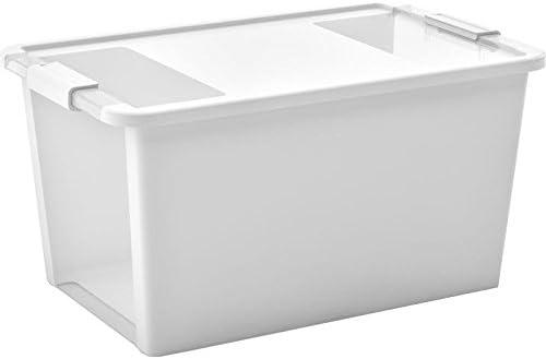 KIS 8454000 0432 01 - Caja de almacenaje, plástico, 40 L, Transparente, Color Blanco