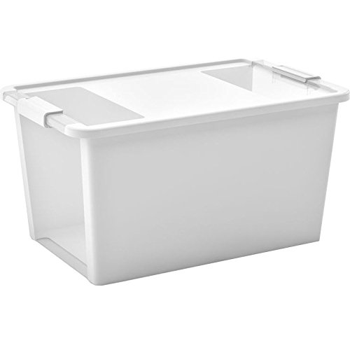 Kis 8454000 0432 01 bi box plastic storage box white//transparent 40 L
