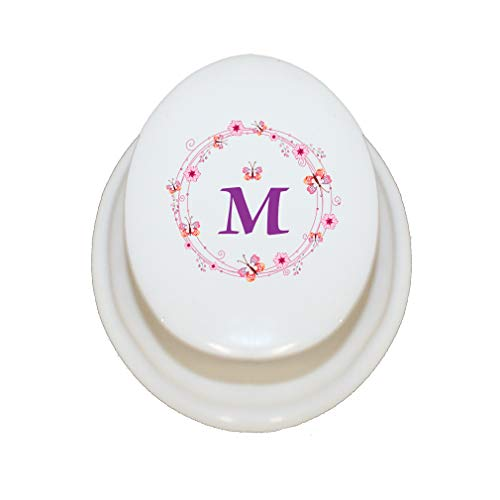 Style In Print Personalized Custom Text Alphabet Letter Flower Wreath Porcelain Treasure Box Porcelain Jewerly Box - Oval