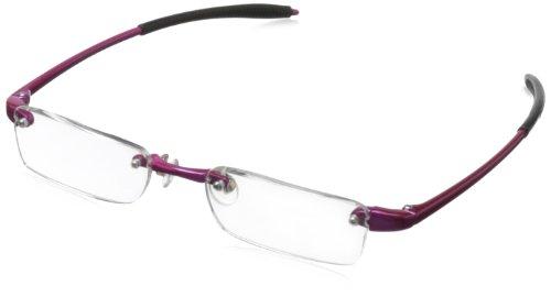 UPC 751286262346, Visualites 237 Rectangular Reading Glasses,Raspberry Frame/Clear Lens,1.50 Strength,49 mm