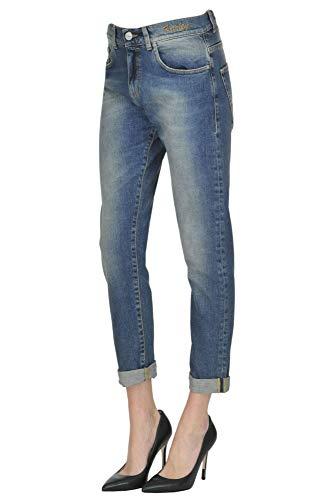 Bleu Coton Jeans Femme Pinko MCGLDNM000004019I nx7Yw0qPE8