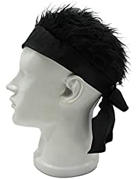Mens Creative Novelty Sun Visor Cap with Fake Hair a4abbbb57a14