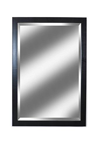 Alpine Mirror Art Ebony Classic Black Beveled Wall Mirror 26.5 x 39.5