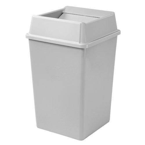 Rubbermaid Untouchable Container - Square Base - 50-Gallon Capacity - Light Gray - Light Gray