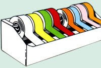 Healthmark LT-614-2 Tape Instrument ID 1.4'' Yellow 1/Rl