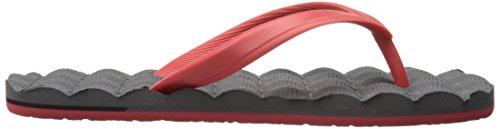 Volcom Mens Reclinabile In Gomma Flip Flop Sandalo Rosso