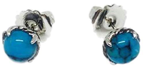 Sterling Silver Chatelaine (David Yurman Women's Sterling Silver Chatelaine Earrings 10mm Turquoise)