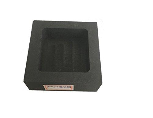 YJINGRUI 1 Stück hochreines Graphit-Tiegeltank-Form in Gold und Silber gegossenen Einspritzstreifen (100 x 100 x 25 mm)