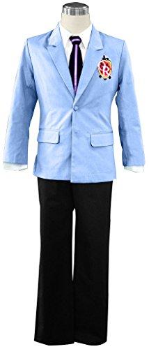 Mtxc Men's Ouran High School Host Club Cosplay Senior High School Male Uniform Size Large Blue