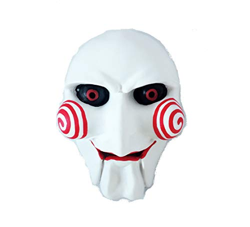(Halloween Costume Saw Billy The Puppet Mask Resin Masquerade Prop Halloween Decoration)