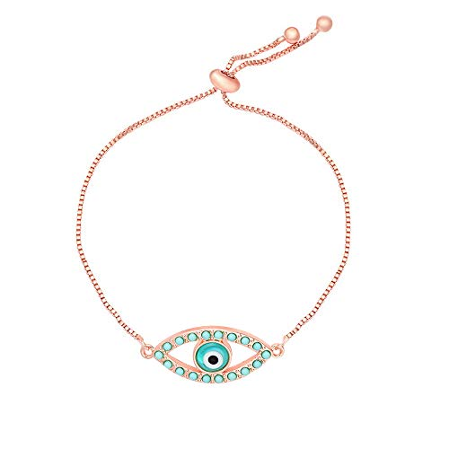 SENFAI Classics Evil Eye Adjustable Bracelet with Yellow Gift Box (5-2)