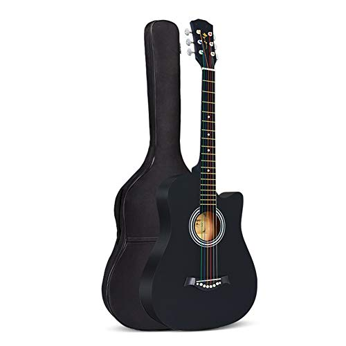 [해외]BAIYING Acoustic Guitar Concert Travel Guitar Adjustable Sound Beginner Rock Practice with Backpack 38 Inches 10 Colors (Color : Black Size : Long-96cm) / BAIYING Acoustic Guitar Concert Travel Guitar Adjustable Sound Beginner Rock...