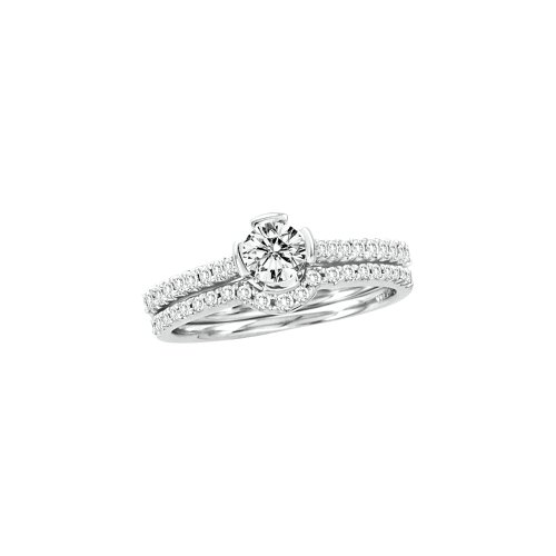 0.77CTW DIAMOND BRIDAL RING WITH 0.40CT ROUND CENTER (Ct Center 0.4 Round)