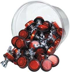 Reflector Plate (Chris Products Bolt-On Reflectors - Red)